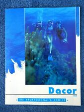 Vintage 1989 Dacor Scuba Catalog Introducing Chameleon BCs