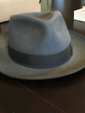 Beautiful Gray Borsalino In Great Condition Size 59/  7 3/8 Beautifully Shaped