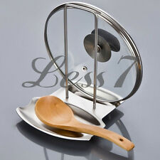 Stainless Steel Pan Pot Rack Cover Lid Rack Stand Spoon Holder Hot Selling