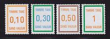 FRANCE TIMBRE FICTIF TAXE FT30,32,33,34 ** MNH,neuf sans charnière,  TB