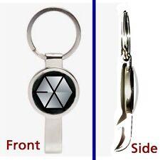 EXO EXO-K EXO-M band Pendant or Keychain silver tone secret bottle opener