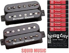 Seymour Duncan Black Winter Humbucker Black Pickup Set ( 6 SETS OF STRINGS )
