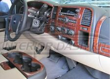GMC SIERRA SL SLE SLT INTERIOR BURL WOOD DASH TRIM KIT SET 2010 2011 2012 2013