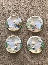 Lot Of 4 Precious Moments 3D Collectors Plates The Lords Prayer And More
