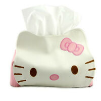Hello Kitty PU Leather Tissue Paper Box Kleenex Cover Holder for Car