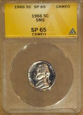 1965 SMS 5C Jefferson Head Nickel MS 65 Cameo ANACS 4528537 + Bonus