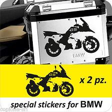 2 Adesivi Planisfero Moto BMW R 1200 1150 1100 gs valigie NEW Moto Adventure