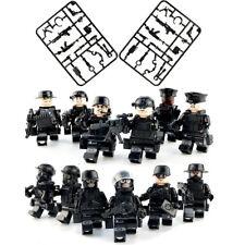 12 piezas Swat Policía Militar Ejército Mini Figuras arma ss soldado Fit Lego Juguetes