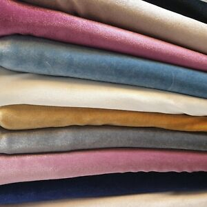 Plain Luxurious Quality Soft Velour Velvet Stretch Dress Fabric Material Meter58