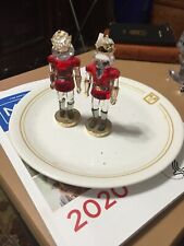 pair swarovski nutcackers approx 4� tall no box