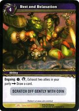 WOW Rest and Relaxation LOOT CARD UNSCRATCHED NEW - WORLD OF WARCRAFT