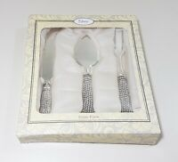 Grace Tea Ware Silverplated Cheese Sever Set w/ 3 Pieces
