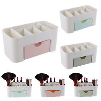 6 Slots Desk Top Makeup Organizer w/ Drawer Storage Cosmetic Case Box Container