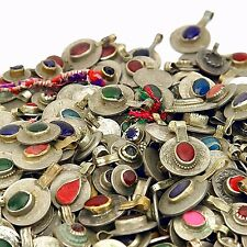 100 real Jeweled COINS Tribal Belly Dance Kuchi Tribe - MIXED Colors