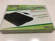 "Bytecc BT-144 Slim USB External Floppy Disk Drive 3.5"" 1.44MB New Sealed NIB"