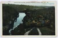 Postcard Catskill Mountains NY Ashokan Reservoir Bird's Eye View Dam Cars 1910's