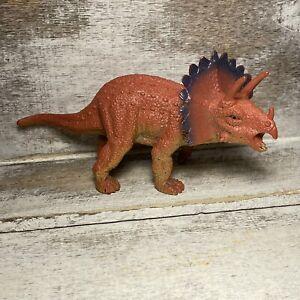 "2008 Triceratops Dinosaur Rubber Plastic Figurine Children Toy 5.5"""