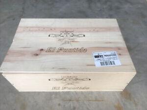 wooden wine box for 6 bottles