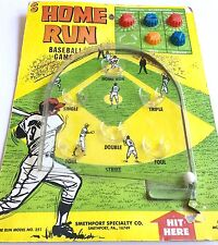 VINTAGE HOME RUN BASEBALL GAME PINBALL ~ SMITHPORT CARDED MARBLE BALL GAME