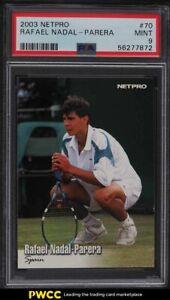 2003 Netpro Tennis Rafael Nadal ROOKIE RC #70 PSA 9 MINT