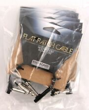 5-pack Rockboard© by Warwick© Flat Patch Pedal Board Guitar Cable 10 cm / 3.93""