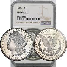1887 $1 NGC MS 64 PL (Proof-Like) Morgan Silver Dollar