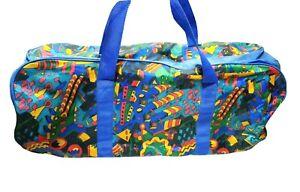 Vintage 80` Crazy Colors Travel Gym Bag Festival Multicolour Aztec Sick Big