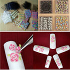 lot 50 Sheet Transfer Nail Art Stickers 3D Flower Manicure Tips Decal Decoration