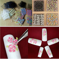 50 Sheets Transfer Nail Art Stickers 3D Flower Manicure Tips Decal Decorations