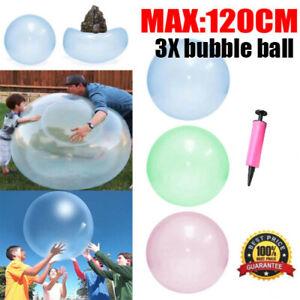 3X 120cm Large Wubble Bubble Ball Soft Firm Water Balloons Inflatable Kids Toy