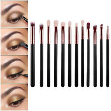 12pcs Brosse Pinceaux Maquillage Set Fard à paupières Eyeliner Yeux Cosmétique