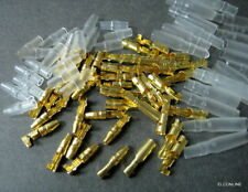 3.5MF Brass Bullet 3.5mm Connector Terminal Male & Female #usGTC + Cover 40 pcs