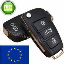 Folding Flip Remote Key Shell OEM For AUDI 3 Button Case A2 A3 A4 A6 A8 TT Q7