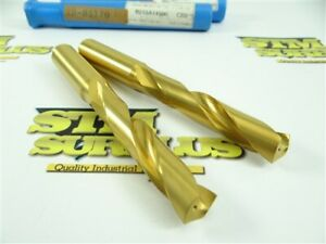 PAIR OF NEW!!! HERTEL SOLID CARBIDE TIN COATED COOLANT THRU METRIC DRILLS 14.5MM