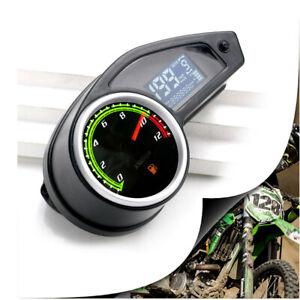 Digital RPM Speedometer Tachometer Fuel Gauge LCD Screen Waterproof Motorcycle