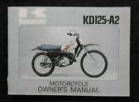 1975 KAWASAKI 125 KD125 DIRT BIKE MOTORCYCLE OWNERS OPERATORS MANUAL NICE SHAPE