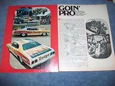 "1973 Dodge Dart Sport Vintage Pro Stock Article ""Goin' Pro"" Steve Bagwell"