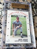 JEFF KENT 1988 Cape Cod Prospects Rookie Card RC BGS 9.5 GEM Mets Giants 377 HRs
