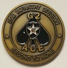 """US Army 2nd Infantry Division """"Second To None"""" G2 ACE Coin Devils Brigade Korea"""