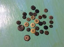 Antique Bone And Wood Buttons