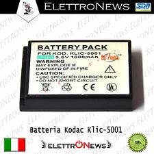 Batteria compatibile  per fotocamera Kodak Klic-5001 1600 mAh 3,6 V