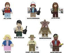 8Pcs/Set Stranger Things Minifigures Custom Building Blocks fits lego kinder toy