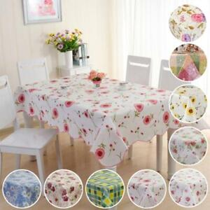 106*152cm Waterproof Oil Proof PVC Table Cloth Cover Tablecloth Home Decor