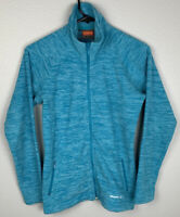 Merrell Full Zip Fleece Jacket Long Sleeve Blue Womens XS Extra Small