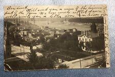 Vintage Minnesota Postcard + Stamp Early 1900: Stillwater: Birds Eye View. #5769