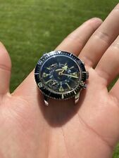 Rare Orologio Watch Chronograph Vintage For Parts Diver Sub Anni 70