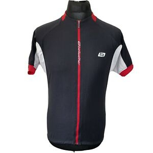 Bellwether Elite CS Black White Cycling Jersey Short Sleeve Shirt Men's XL