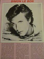 Simon Le Bon, Duran Duran, Full Page Vintage Clipping