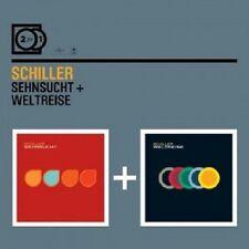 Schiller - 2 for 1: desiderio/giro del mondo; 2 CD 37 tracks synthie POP/trance NUOVO