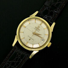 Men's Vintage Gold S/S Omega Constellation Automatic Pie Pan DATE Dial Watch